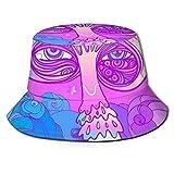 Stylish Home Sombrero unisex reversible plegable para hombres y mujeres, setas multicolores, sombreros de pescador de playa, doble cara reversible