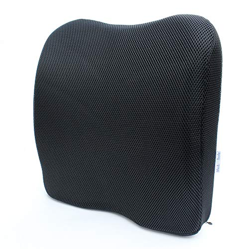 Medi Body Rückenkissen Aus Viskose Schaumstoff, Ergonomisches Lendenkissen, Sitzpolsterung Zur Rückenstützung Für Auto, Bürostuhl und auf Reisen
