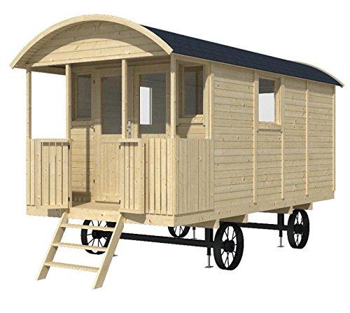 Bauwagen LÖWENZAHN 240 x 500cm Zirkuswagen Gartenhaus 19mm Holzhaus Anhänger