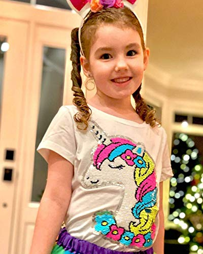 HH Family Girl's Unicorn Casual T-Shirt Birthday Top Tee 5
