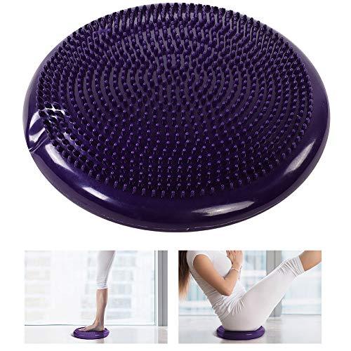 Cojín de yoga púrpura, tablero inclinado profesional de PVC para la recuperación del tobillo con color de la bomba