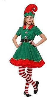 Bofo Kids Girls Boys Parent-Child Family Costume Santa Elf Christmas Fancy Dress