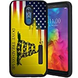CasesOnDeck Case Compatible with [LG Stylo 4 / LG Stylo 4 Plus][Grip Tactical] Case with Dual Layer Protection Optimal Grip Exterior Cover (Dont Tread On Me)