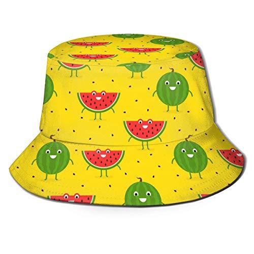 Sandía roja Fruta Molon Sombrero de Cubo de impresión...