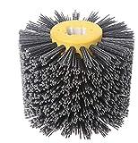 SIGNI New Abrasive Wire Drawing Wheel Drum Burnishing Polishing Brush for wooden furniture floor polishing...