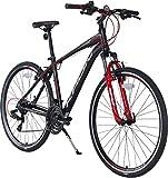 KRON TX-100 Aluminium Mountainbike 28 Zoll | 21 Gang Shimano Kettenschaltung mit V-Bremse | 18 Zoll...