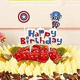 Vela de pastel, Velas de cumpleaños para decoraciones de pastel de fiesta de cumpleaños