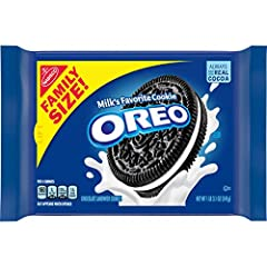 One 19.1 oz family size package of OREO Chocolate Sandwich Cookies Chocolate wafers filled with original OREO creme Sandwich cookies are perfectly dunkable Family size cookies are great for sharing with friends and family Resealable package helps kee...