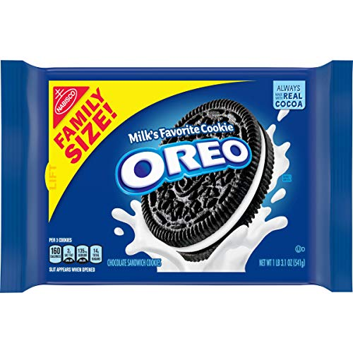 OREO Chocolate Sandwich Cookies, Original Flavor, 1 Resealable Family Size Pack