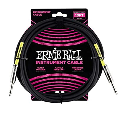 Ernie Ball P06048 10' Straight Instrument Cable - Black
