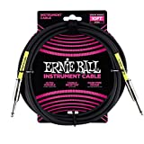 Ernie Ball 10 'Straight/Straight Instrument Cable - Negro