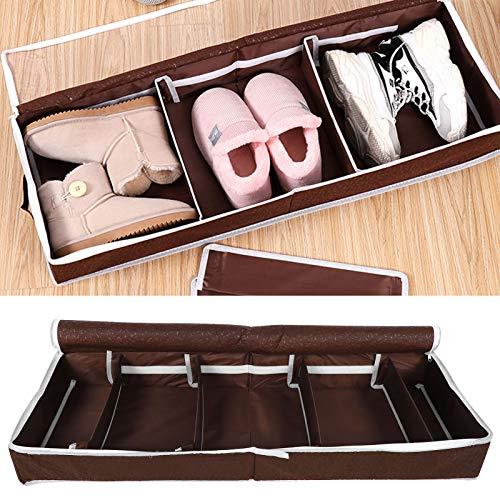 Uxsiya Bolsa de zapatos para zapatos, organizador de zapatos, divisores ajustables, caja de almacenamiento de zapatos, café para sótano, dormitorio (tamaño grande (84 x 31 x 11,5 cm)
