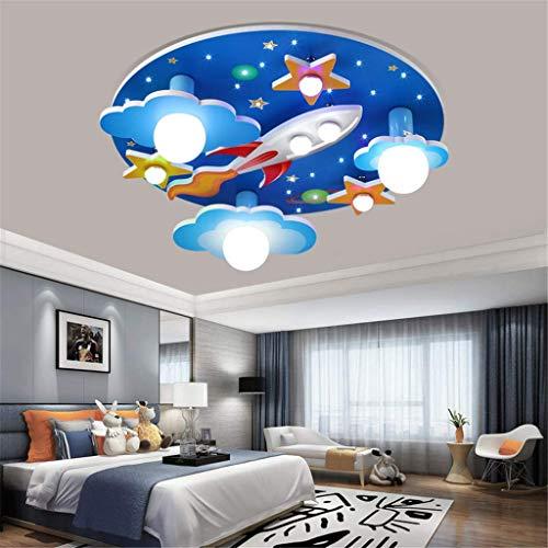 SKSNB Luz de Techo para niños Luz de Techo Creativa Lámpara de Techo de acrílico con Control Remoto LED para habitación de niños Aula [Clase energética A ++]