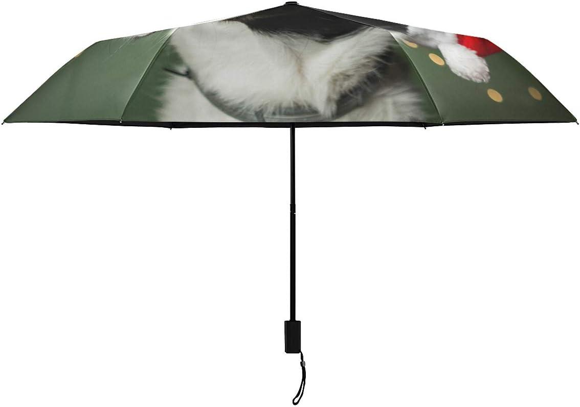 Dog Wearing Santa Max 63% OFF 2021new shipping free Red Hat Parasol RainWin Rain Compact Umbrella