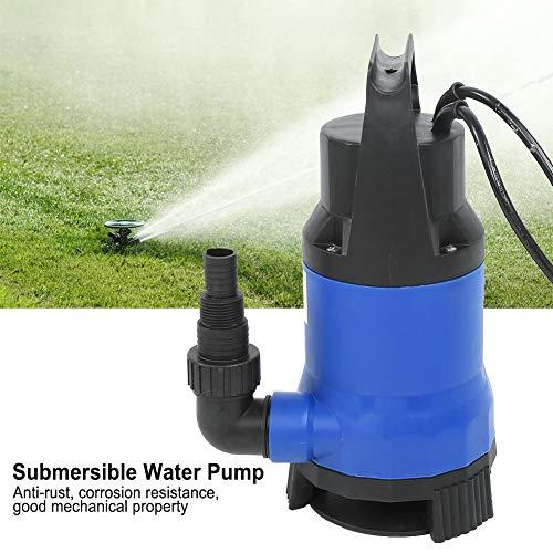 Bomba sumergible para aguas residuales, 1100 W, flujo máximo 16000 l/h, partículas pasables de 35 mm, con interruptor de flotador