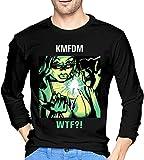 KMFDM Rock Music Band Mens Elastic Crewneck Long Sleeve Shirts Custom Tops tee