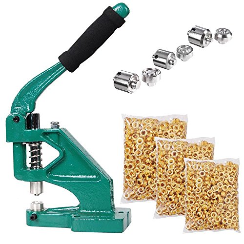 Yescom 3 Die (#0#2#4) Hand Press Grommet Machine Grommets Eyelet Tool Kit Heavy Duty for Industrial Use