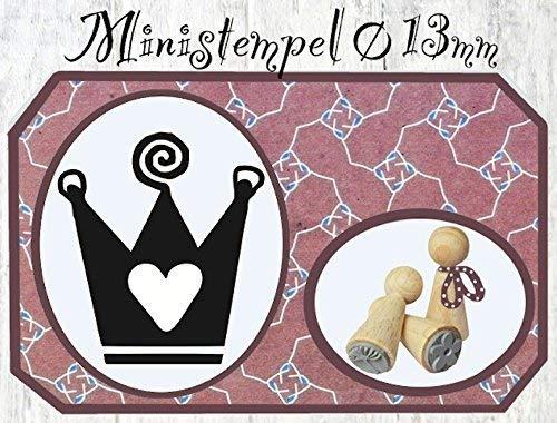 Zwergenstempel Krone, Ø13mm, fast 400 lustige Stempel-Motive im Shop
