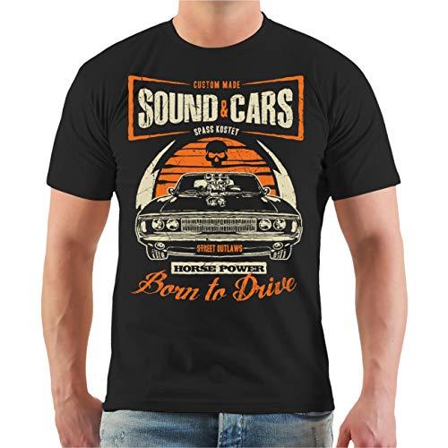 Männer und Herren T-Shirt Sound & Cars Horse Power Größe S - 8XL