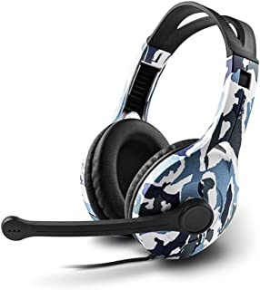 Headset Laptop Computer Voice Game Gaming Headset With Microphone headphone Line Control Game (Color : Multi-colored)