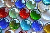 30 St. Deko Mosaiksteine Glasnuggets transparent a 17-20 mm bunt ca. 130g. - 2