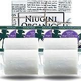 4 x Jabónes de aceite de coco virgen puro orgánico del MUNDO para todo tipo de piel, barra de 100 gramos aroma: Lavanda
