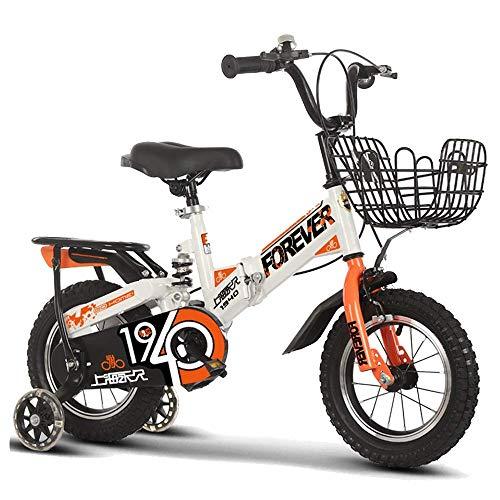 HUAQINEI Bicicletas para niños y niñas de 2 a 8 años, Bicicletas Infantiles con Ruedas y Freno de Mano