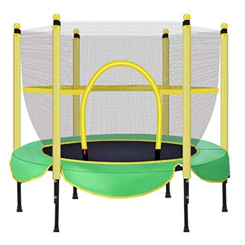 ZHAOJBC Kindertrampoline, veilig binnentrampoline, rechte voet met pvc-bescherming, kindersport en -fitness, bestand tegen 100 kg