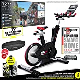 Sportstech Exercise Bike Indoor Cycling - German Quality Brand - Video Events & Multiplayer App, Computer Controlled Magnetic Brake System, 26KG Flywheel, SX600 Indoor Bike with Sport Handlebars