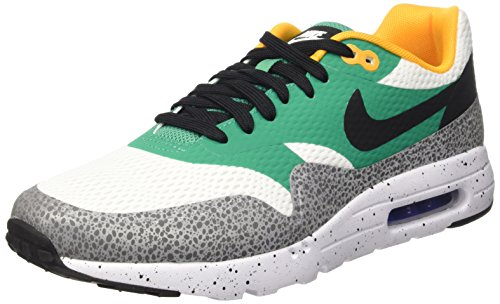 Nike Air Max 1 Ultra Essential, Men's Low-Top Sneakers, White (White/Black-Emerald Green-Reflect Silver-Concord-Resin), 9 UK (44 EU)