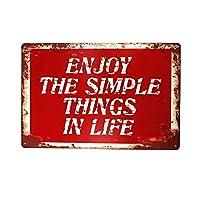 シンプルなものをお楽しみくださいティンサイン壁鉄の絵レトロなプラークヴィンテージ金属板装飾ポスターおかしいポスター吊り工芸品バーガレージカフェホーム