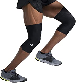 ENERSKIN E75 FDA Approved Graduated Medical Grade mmHg Knee Compression Sleeves with Kinesiology Muscle Mapping