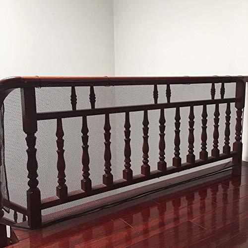 ROCK1ON Baby Absturzsicherung Net Kinder Sicherheit Net, 2 Meter Balkon Treppe Geländer Sicherheitsnetz Zaun für Baby Kleinkind Kids Pet, Brown