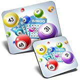 Juego de alfombrilla de ratón y posavasos – Juego de bingo Gran Auntie 23,5 x 19,6 cm y 9 x 9 cm para ordenador y portátil, oficina, regalo, base antideslizante #2124