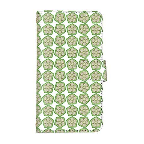 スマ通 ZenFone Max Pro M1 ZB601KL / ZB602KL 国内生産 ミラー スマホケース 手帳型 ASUS エイスース ゼンフォン マックス プロ エムワン 【2-グリーン】 フルーツ 野菜 断面 q0001-i0110