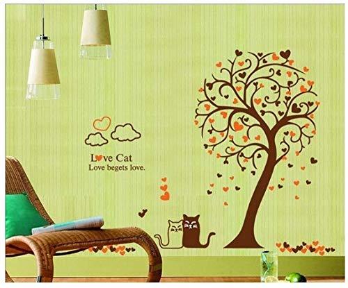 Cooldeer muursticker, motief: kat van de liefde