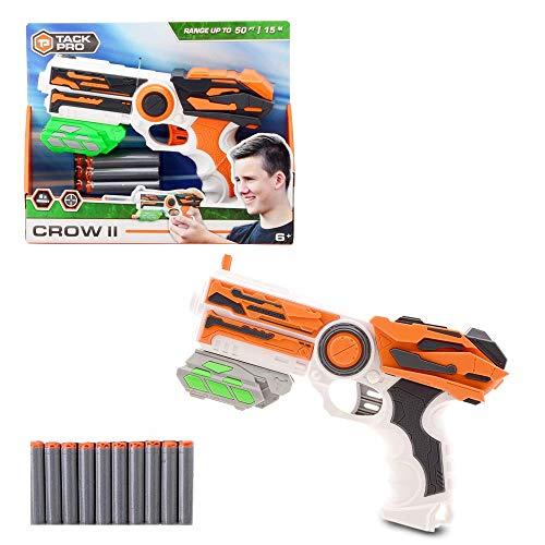 Tack Pro Blaster, Spielzeugblaster Spielzeugpistole Einzelschusswaffe mit 6 Darts Pfeile Blaster Set für Kinder ab 6 Jahren