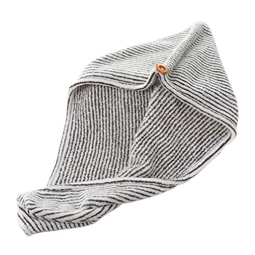TOPBATHY Serviette de séchage rapide en fibre de charbon de bambou pour filles et femmes (gris et blanc)