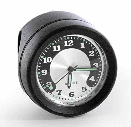 Motorrad Lenkeruhr Metall schwarz Big Uhr großes Ziffernblatt