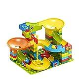Compatible con DUPLO Classic LEGO, NLR FUN Marble Run Track Building Set, para niños de 3 a 9 años, 100 unidades