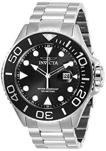 Invicta Relógio masculino de quartzo Pro Diver 50 mm de aço inoxidável, prata (modelo: 28765)