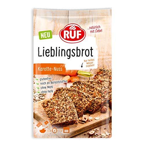 RUF Lieblings-Brot Karotte Nuss glutenfrei ohne Mehl und Hefe, 600 g