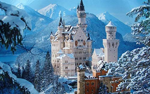JYWSHT 3d puzzles adult, christmas jigsaw puzzle 1000 pieces - Snow castle, Large Educational Intellectual Paintings Puzzle Game Toys Gift For Home Wall Decoration, adult puzzles, wooden puzzle