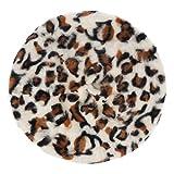 Mujeres Moda Conejo Pelo Boina Sombrero Otoño Invierno Leopardo Impreso Mujer Sombrero Viaje Accesorio
