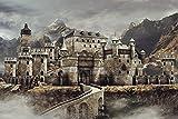 Alte Burg Schloss Mittelalter Fantasy XXL Wandbild