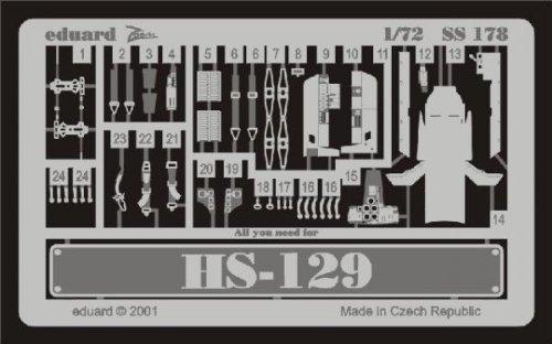 Eduard Accessories SS178 Modélisme Accessoires Henschel HS de 129