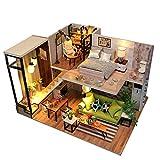 Logicstring M030 casa de Campo Mini casa Muebles de casa de muñecas DIY Miniatura 3D Miniaturas de Madera casa de muñecas Juguetes niños Regalos de cumpleaños