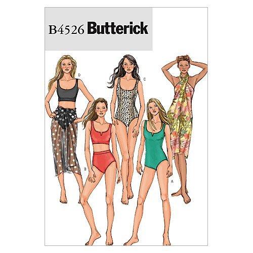Butterick, Cartamodelli 4526 AA Costumi da Bagno e Pareo
