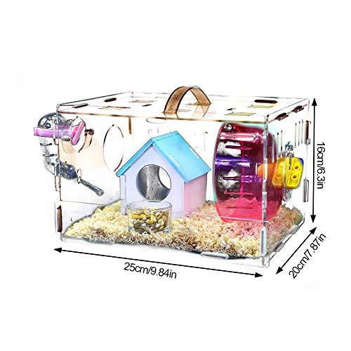 KEISL Cage en Plastique pour Hamster et Souris Mini...