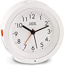 ADE CK 1719 Analogue Alarm Clock (Silent Alarm Clock without Ticking with Automatic Night Light Sensor and Snooze Function...